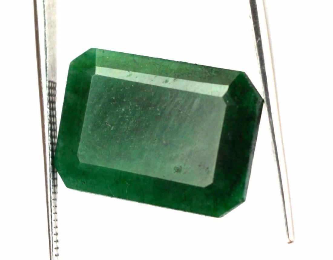 12.50 Ct Natural Emerald Cut Colombian Green Emerald