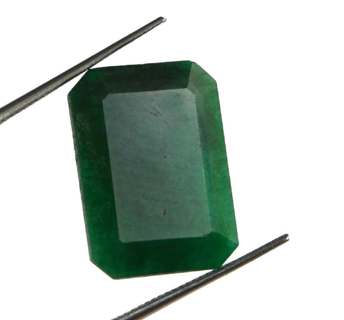 12.50 Ct Natural Emerald Cut Colombian Green Emerald - 3