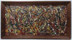 1951 Jackson Pollock Abstract Painting Hand Si