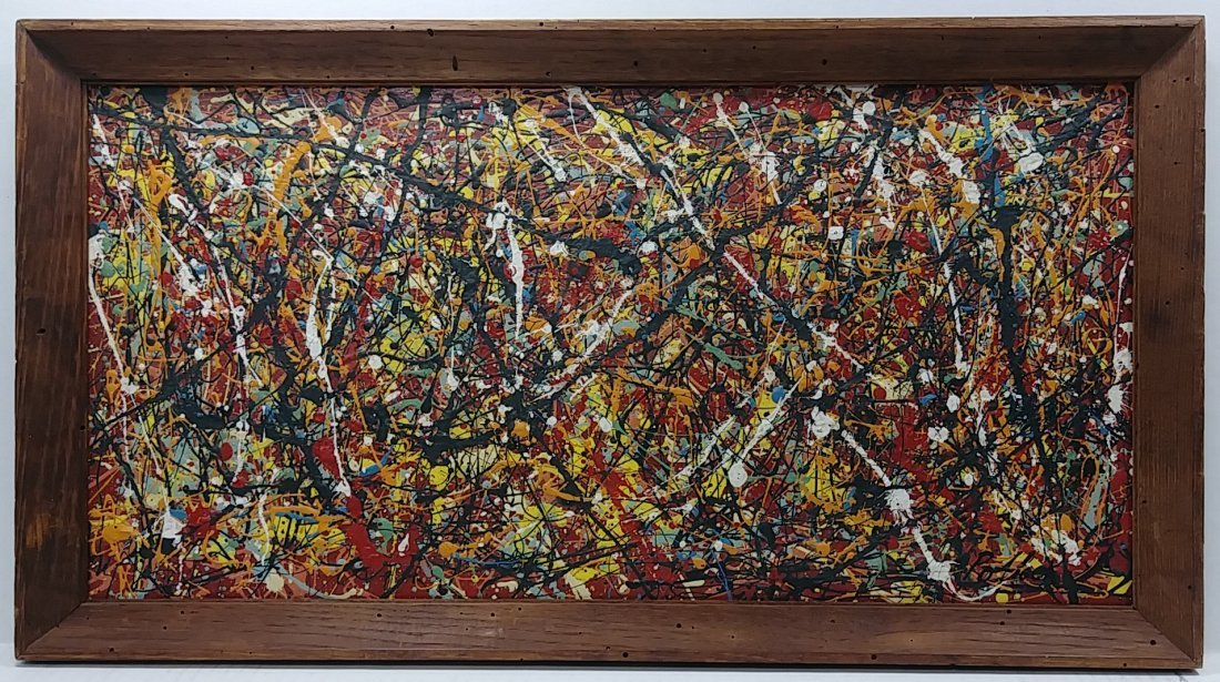 1951 Jackson Pollock Abstract Painting Hand Si