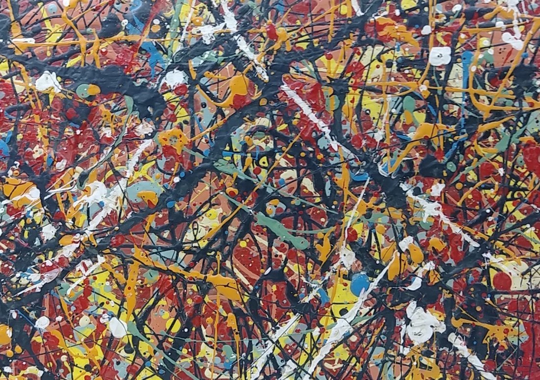 1951 Jackson Pollock Abstract Painting Hand Si - 2