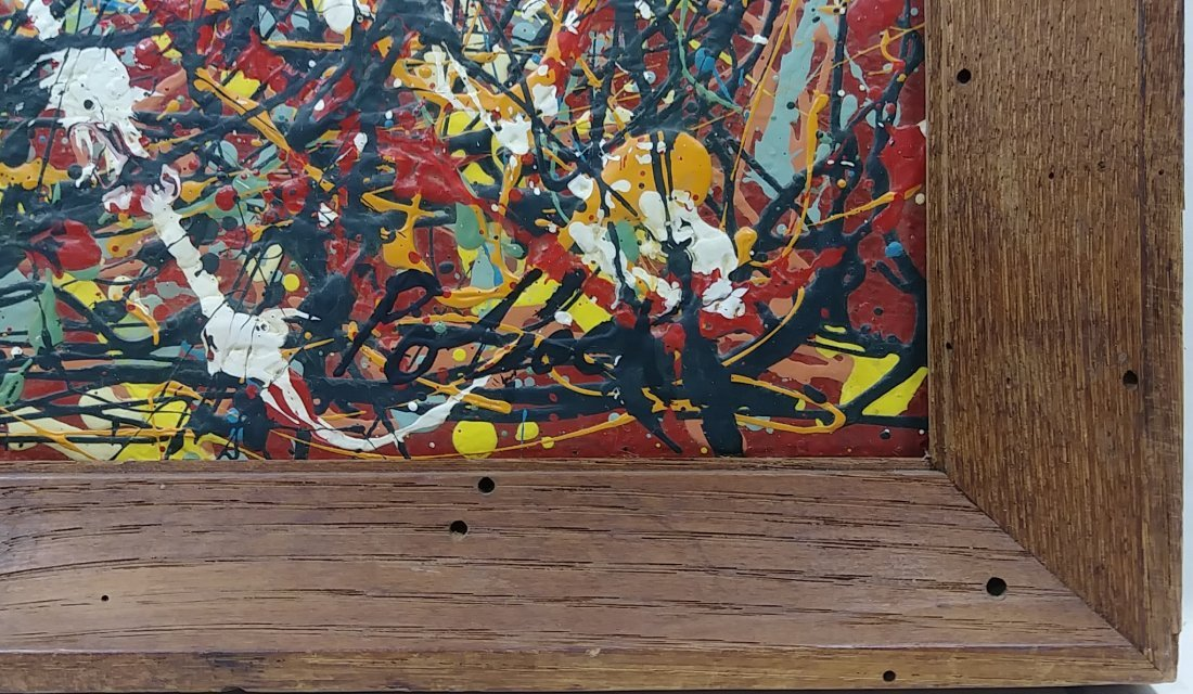 1951 Jackson Pollock Abstract Painting Hand Si - 4