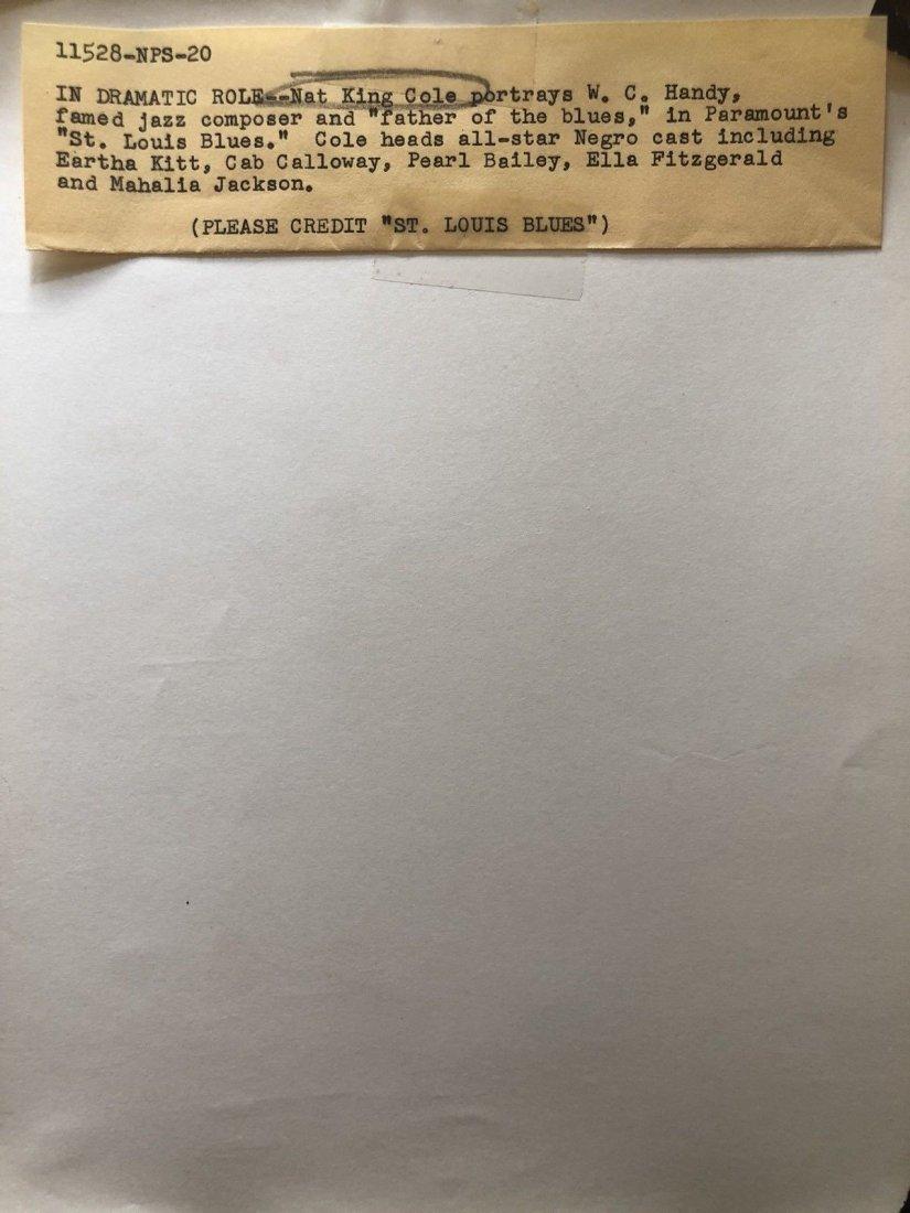 Vintage Nat King Cole St Louis Blues Original Photo - 2