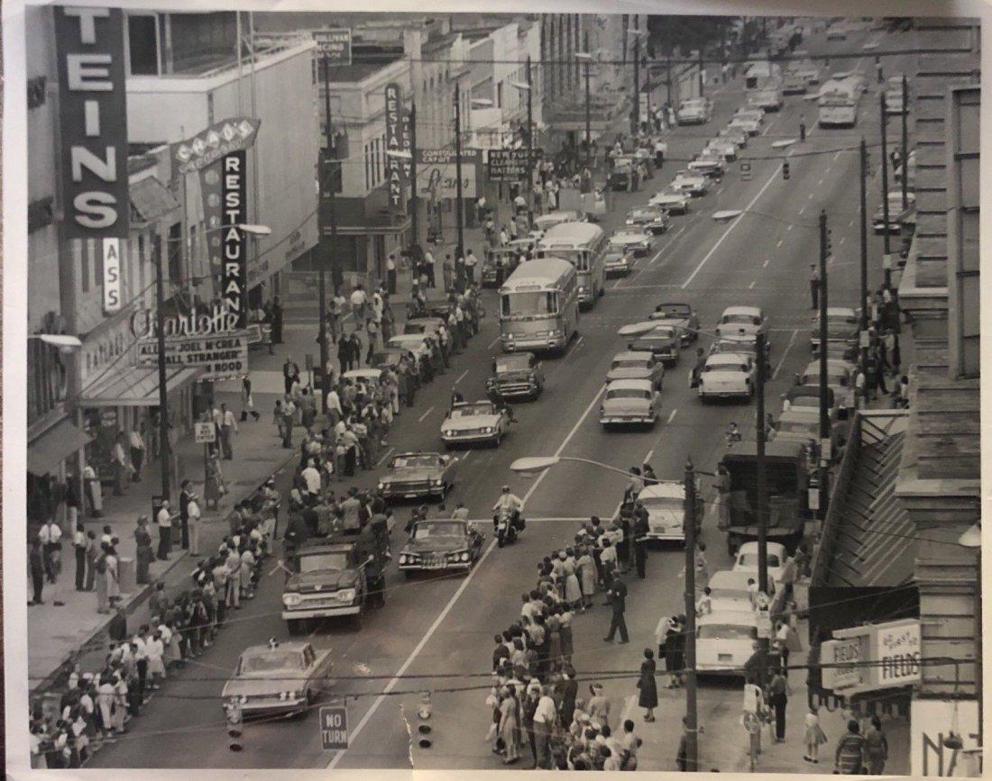 Vintage 1960 John Kennedy Arrives In Charlotte Original