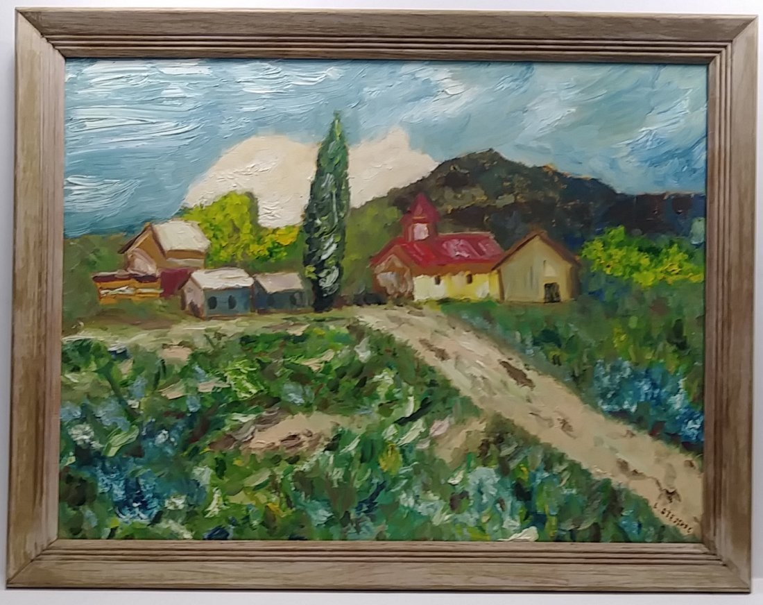 Original Expressionismo  Landscape Oil Painting Signed
