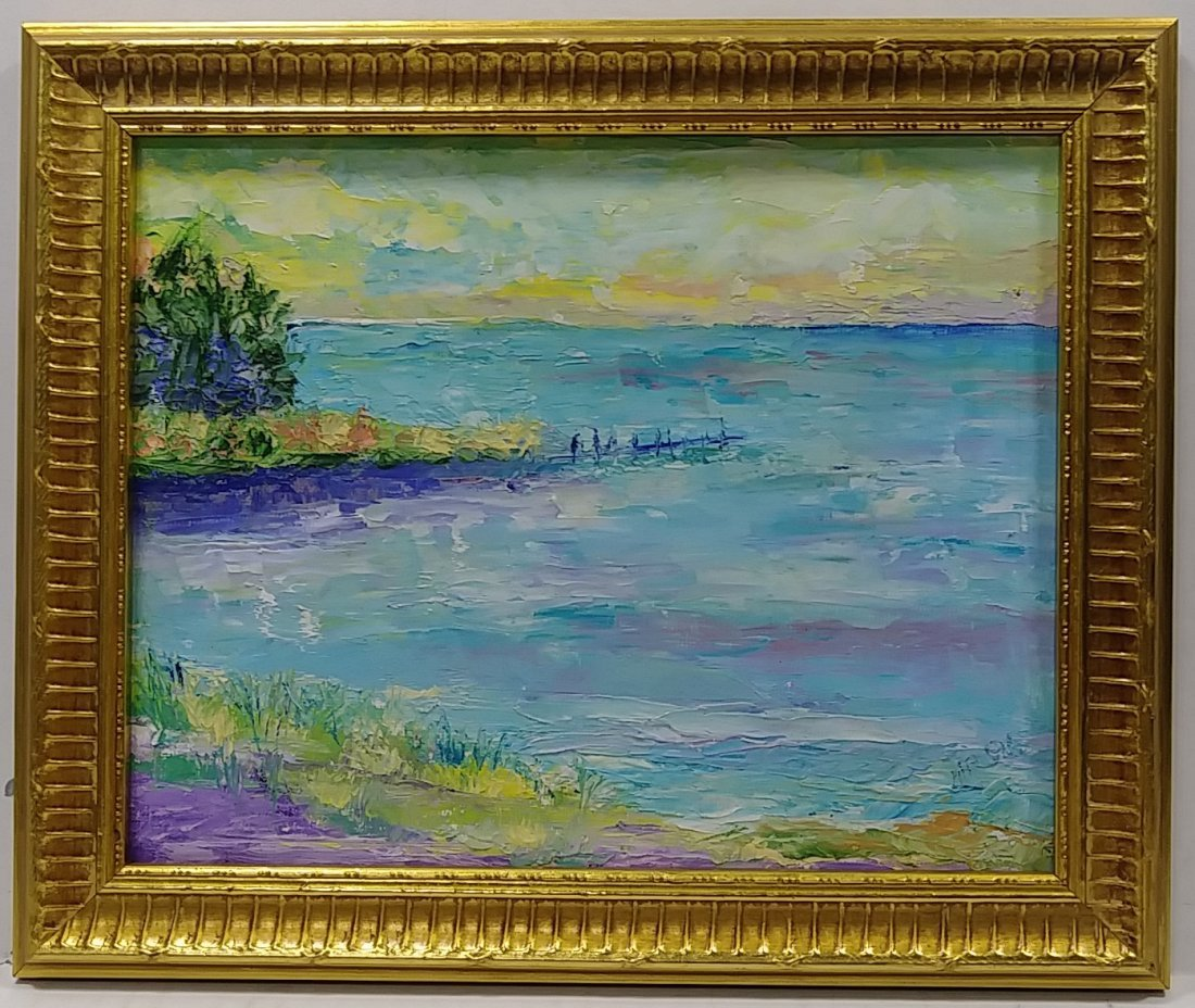 Original Expressionism Abstract Seascape Oil Painting