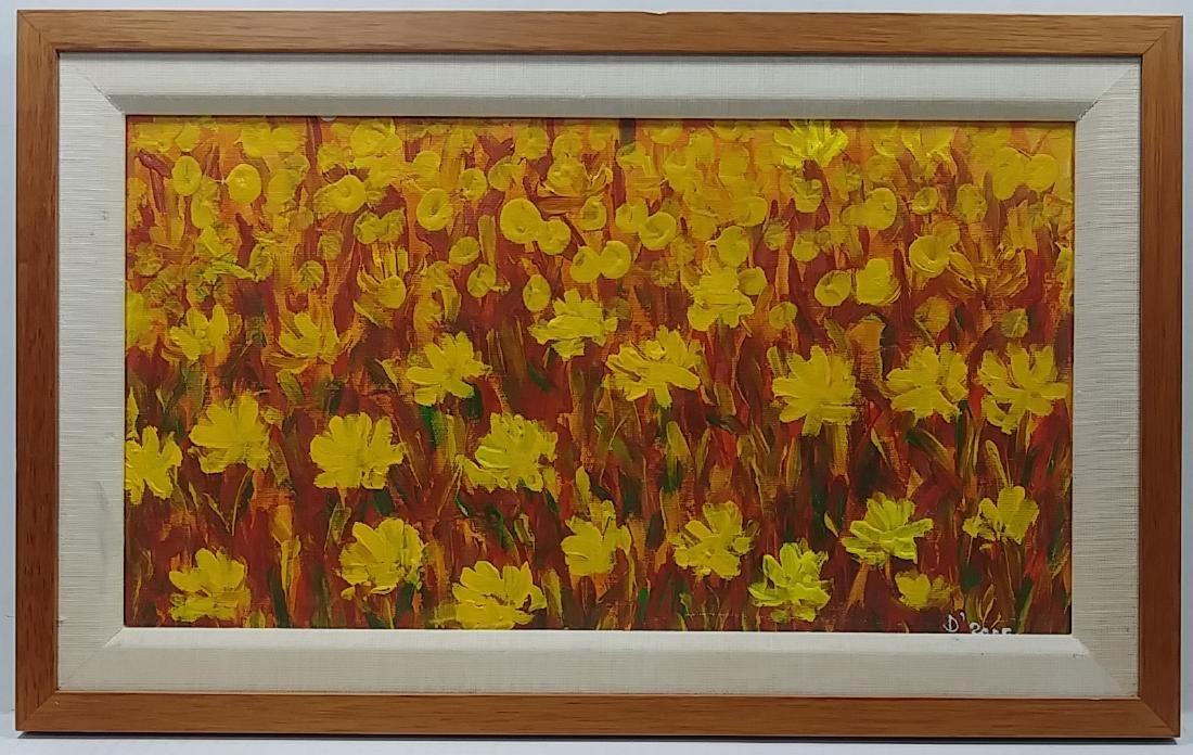 Original Sunflower Oil Painting, Signed