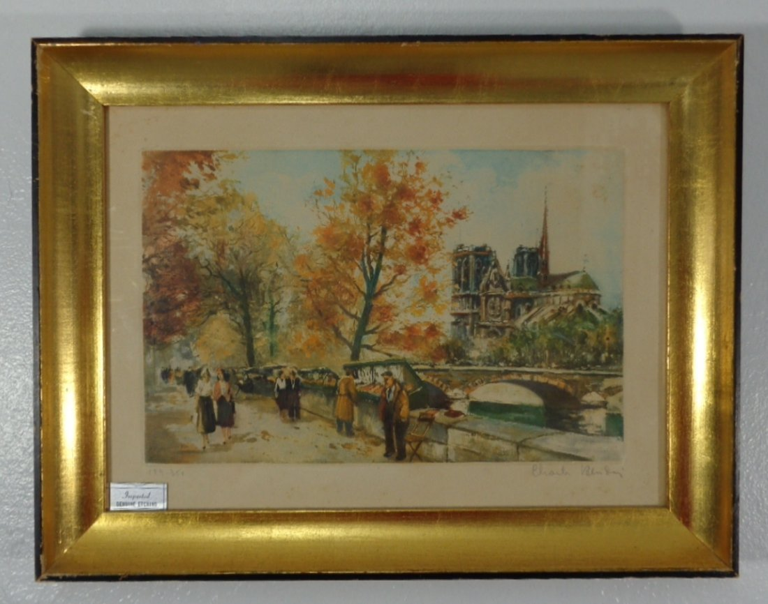 Original Signed & Numbered framed Etchings with colour