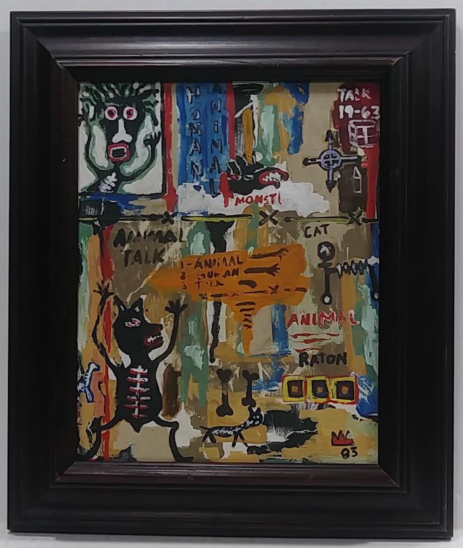 Jean Michel-Basquiat (American, 1960-1988): Untitled 83