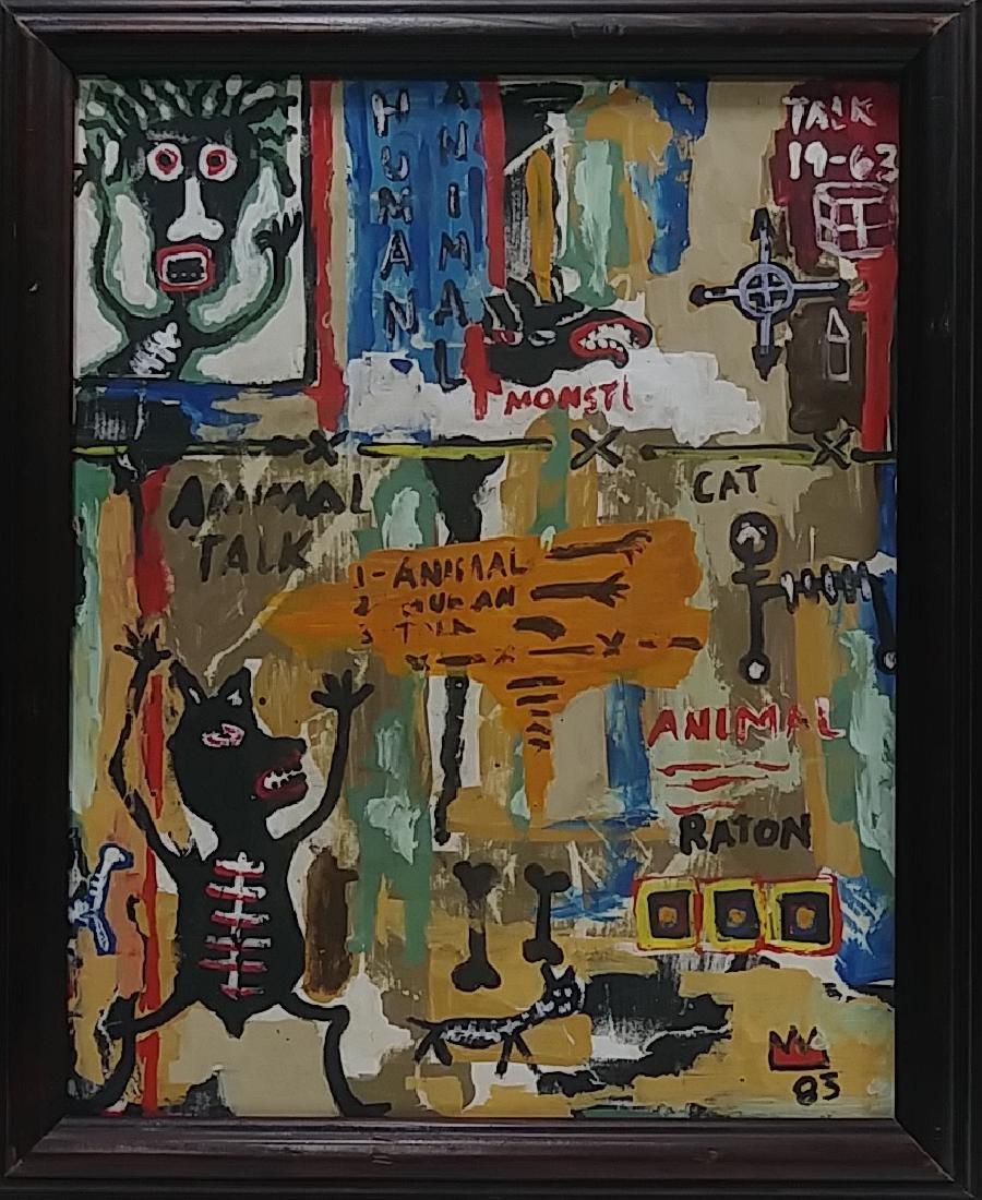 Jean Michel-Basquiat (American, 1960-1988): Untitled 83 - 2