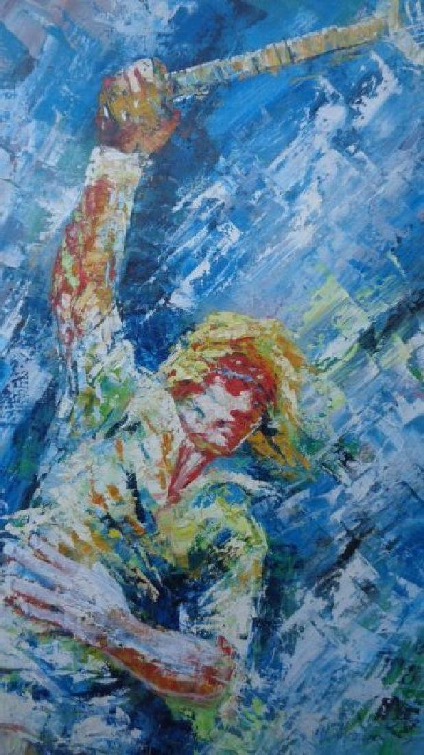 Modern Contemporary Original Large Oil Painting