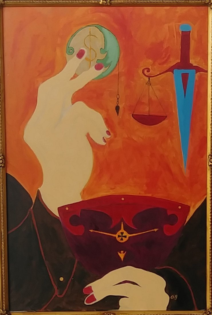 """Power and Fall"" Original Oil Painting on Canvas-Signed - 2"
