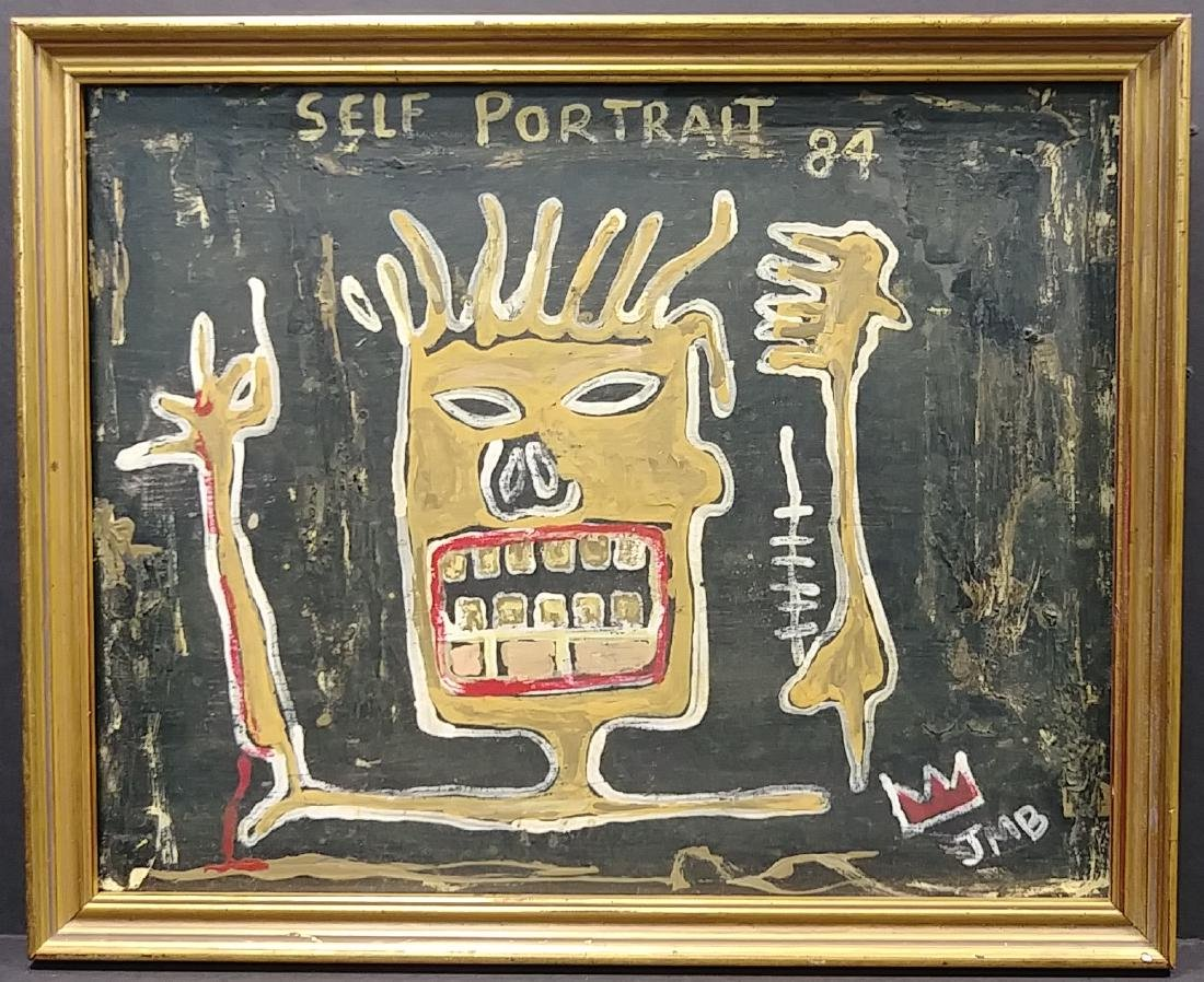 Jean Michel-Basquiat (American,1960-1988):Self Portrait