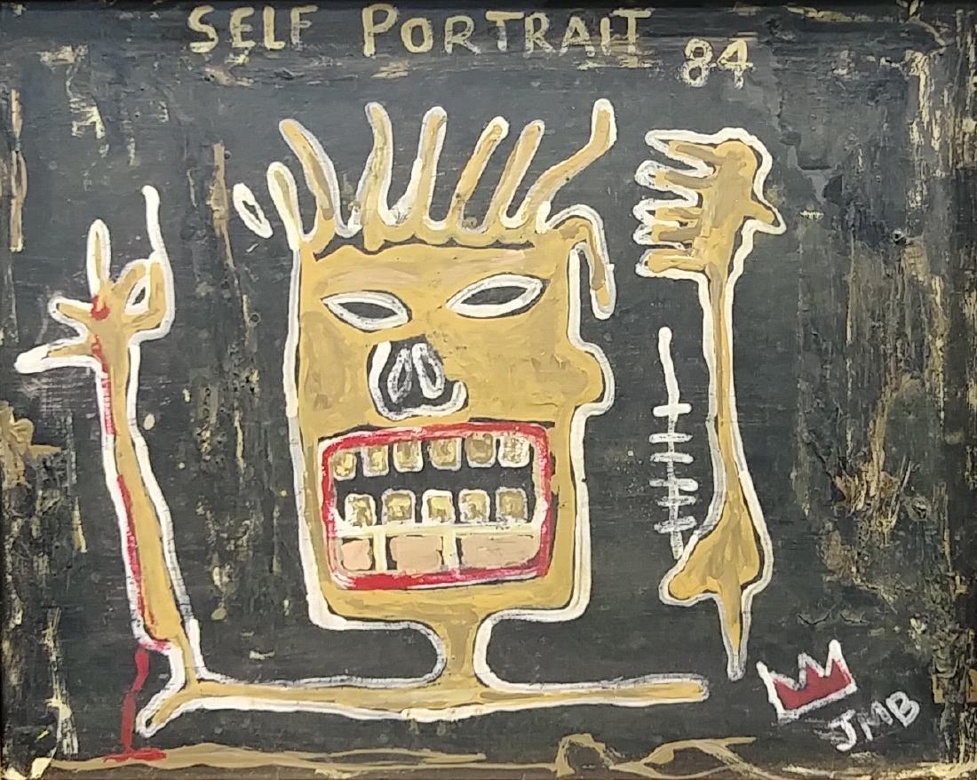 Jean Michel-Basquiat (American,1960-1988):Self Portrait - 2