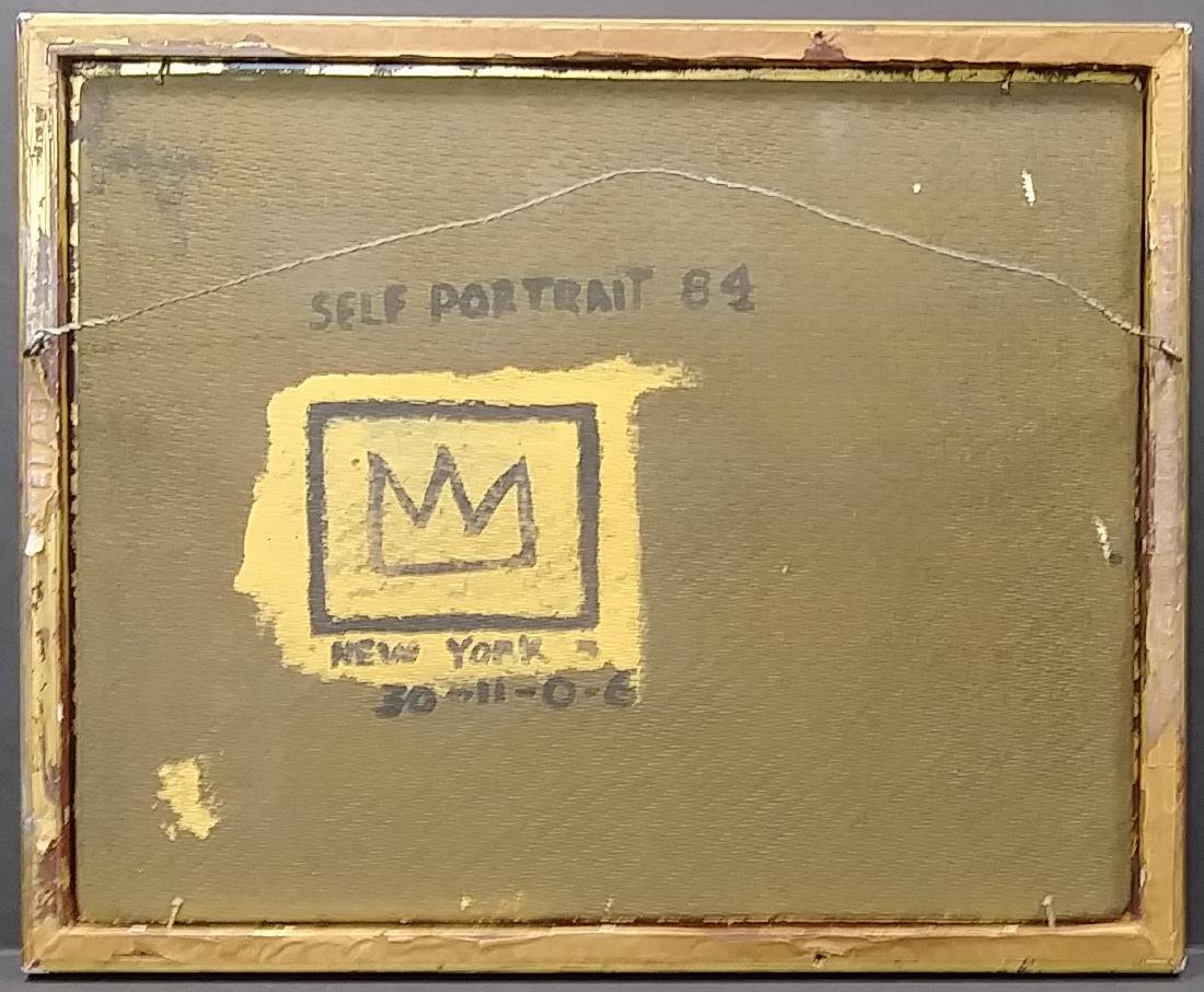 Jean Michel-Basquiat (American,1960-1988):Self Portrait - 4