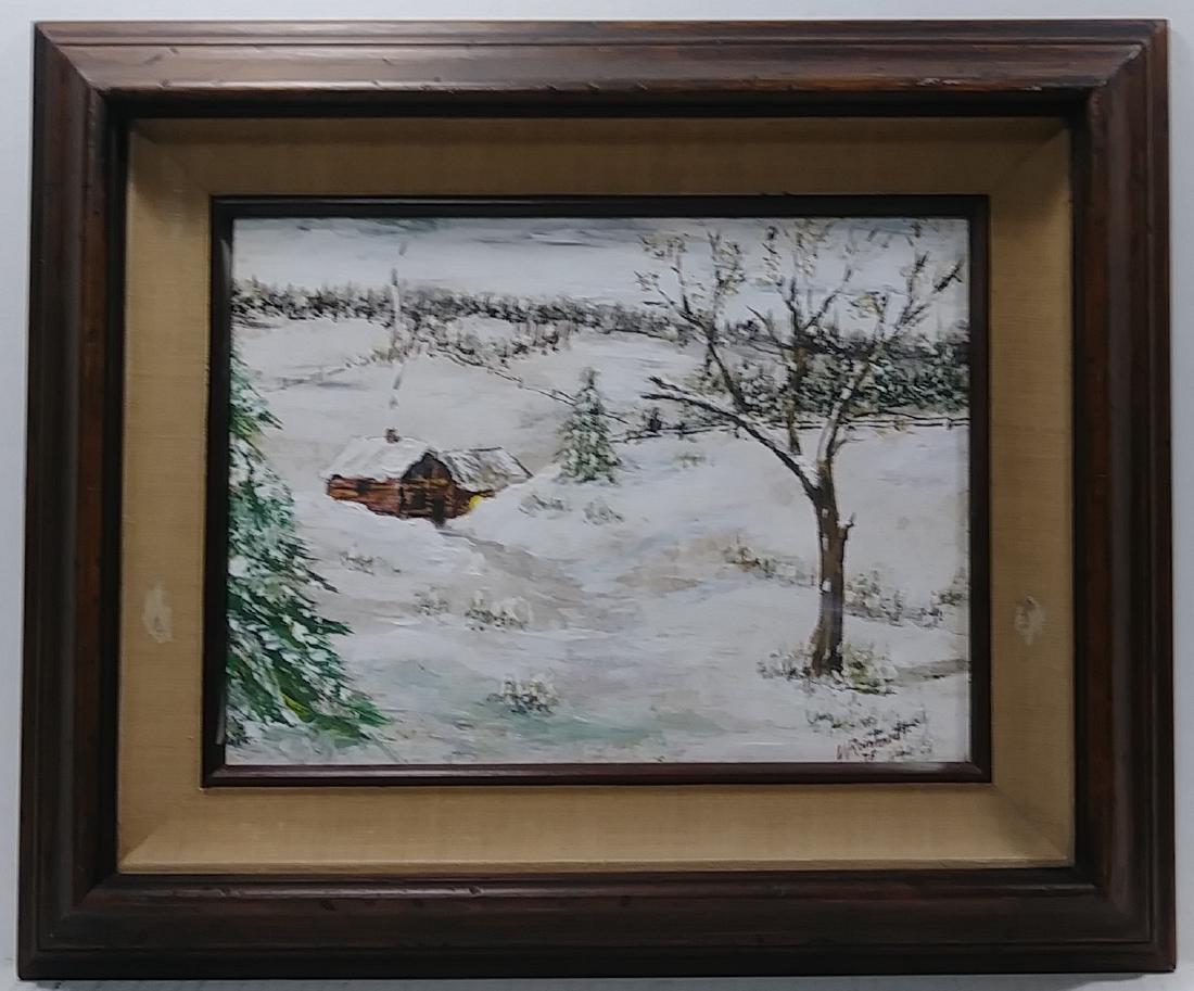 1975 Original Oil Painting Impressionist Lanscape Signe
