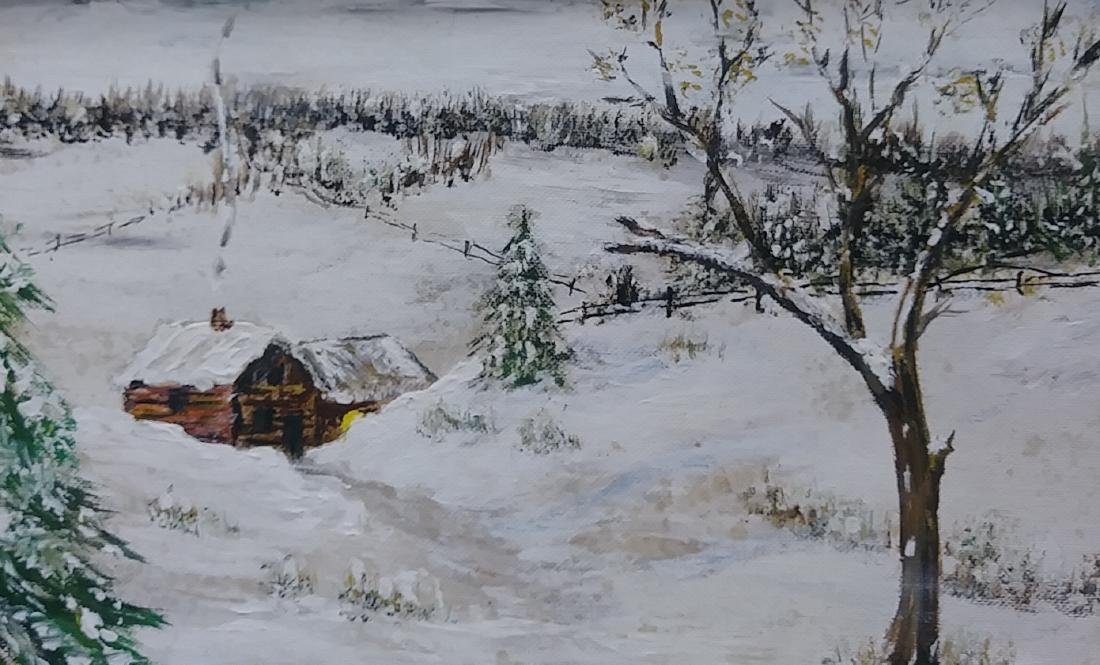 1975 Original Oil Painting Impressionist Lanscape Signe - 2