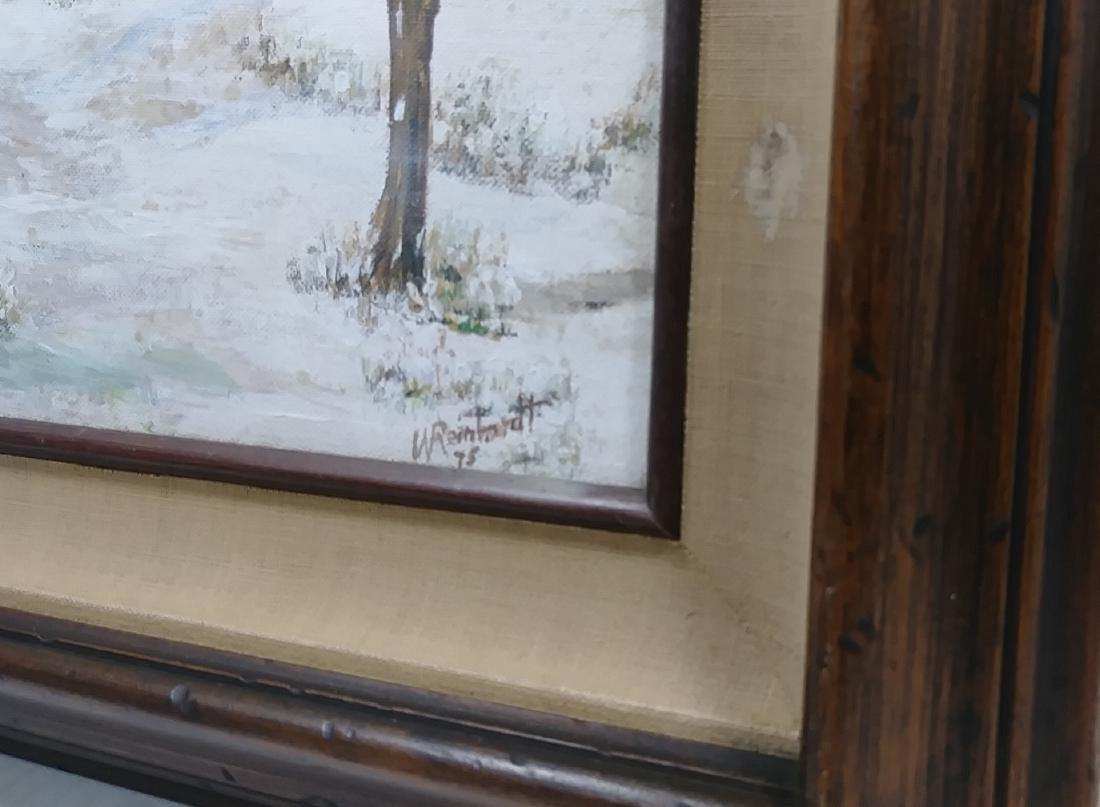 1975 Original Oil Painting Impressionist Lanscape Signe - 3