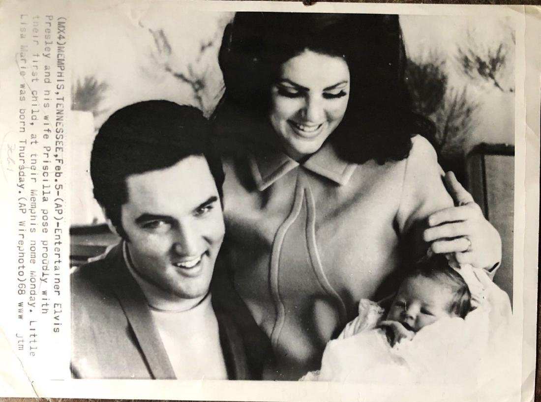 1968 Elvis Presley Rock King Original Press Photo