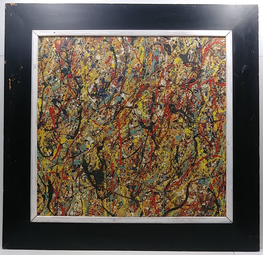 Merveilleux 1951 Jackson Pollock Abstract Painting Signed