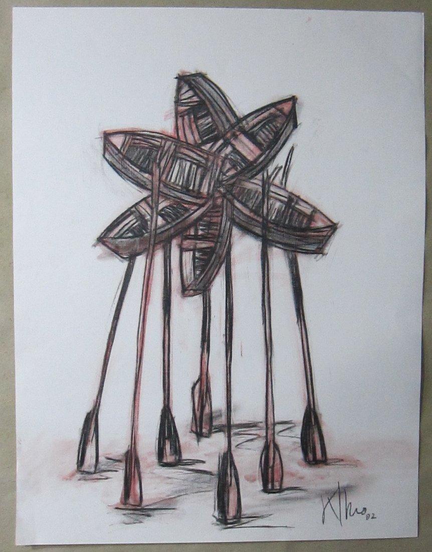 Alexis Leiva Machado (Kcho) Mixed Media Crayon on Paper