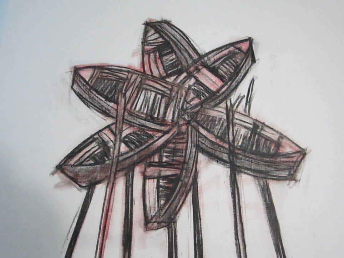 Alexis Leiva Machado (Kcho) Mixed Media Crayon on Paper - 2