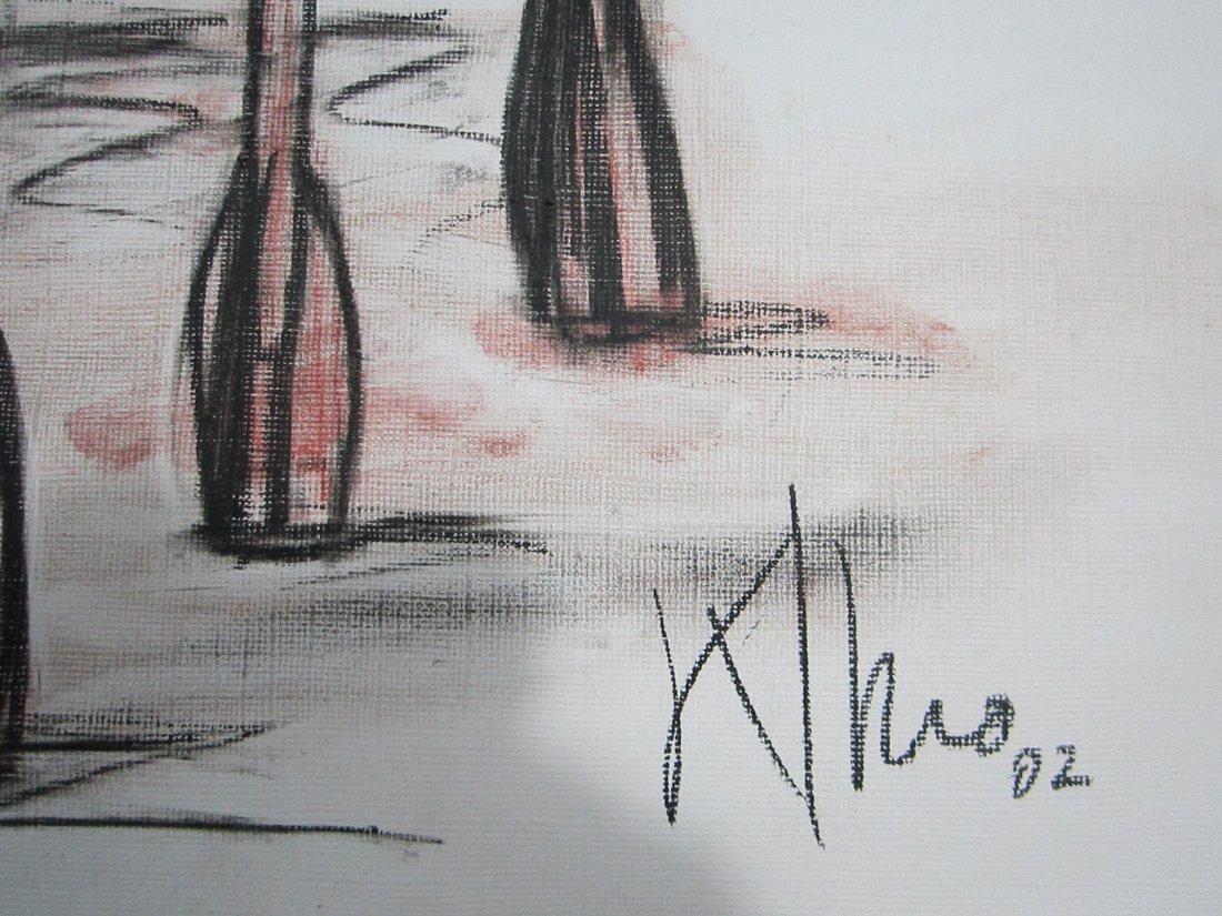 Alexis Leiva Machado (Kcho) Mixed Media Crayon on Paper - 3