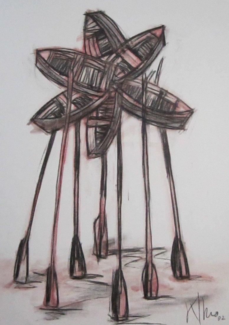 Alexis Leiva Machado (Kcho) Mixed Media Crayon on Paper - 5
