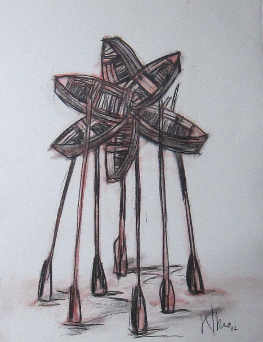 Alexis Leiva Machado (Kcho) Mixed Media Crayon on Paper - 6