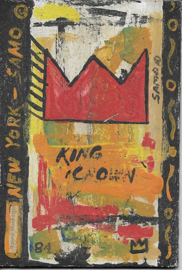Jean-Michele Basquiat NYC Street Art Postcard Painting