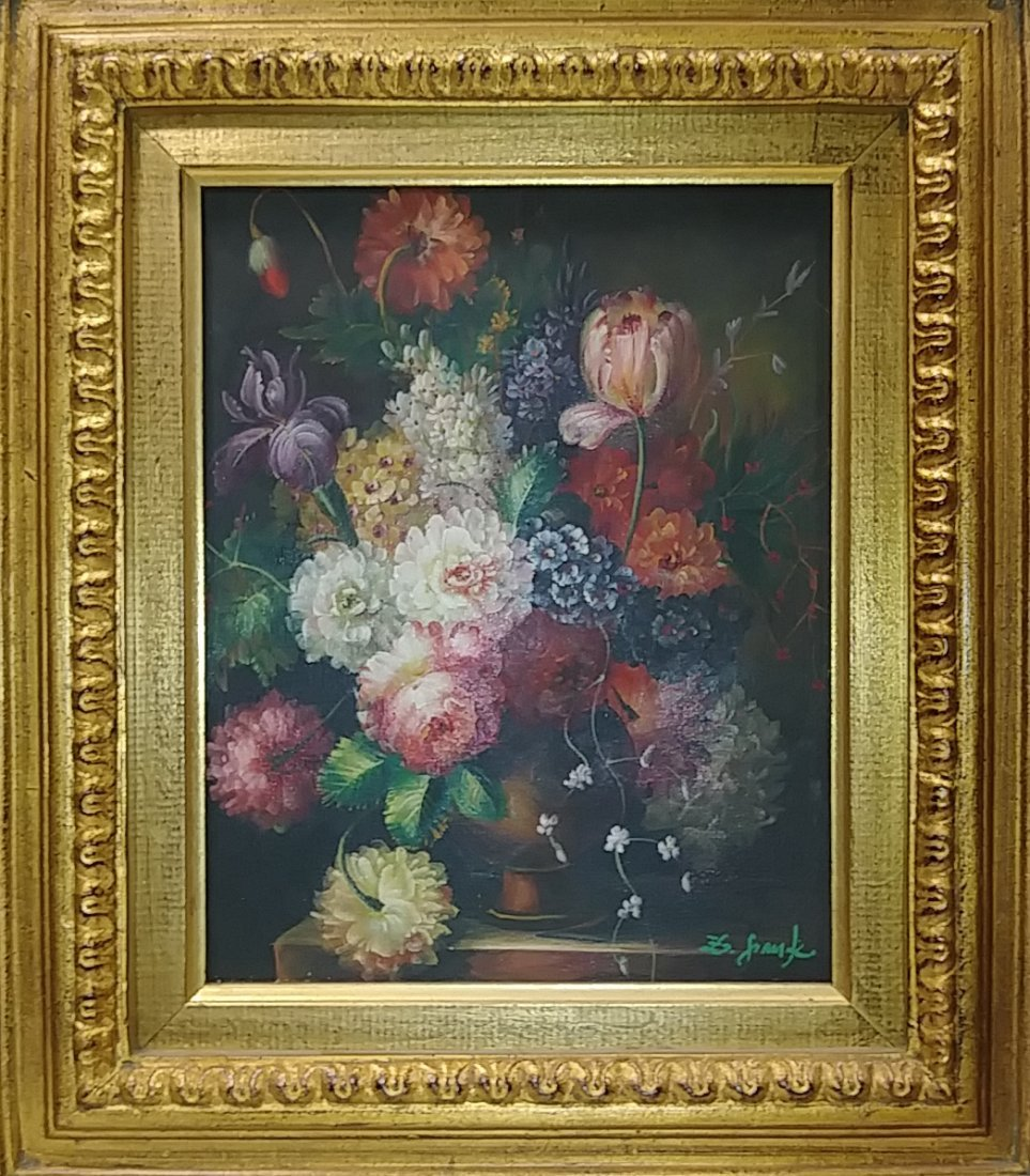 Bouque of Flower Oil Painting Signed. - 2