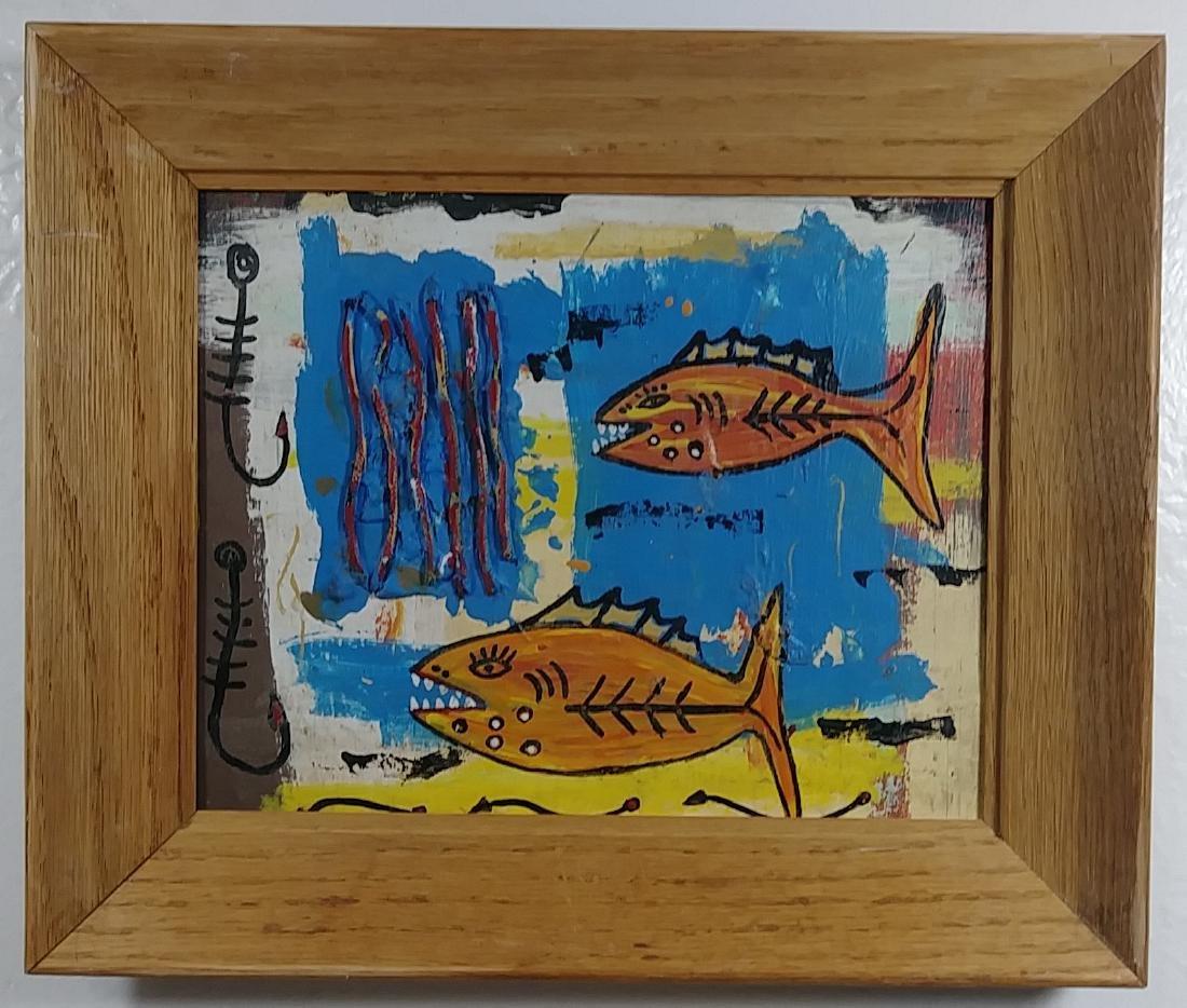 Original Fish Painting Signed