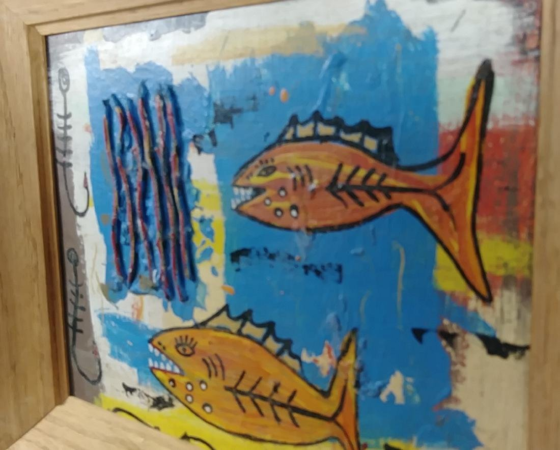 Original Fish Painting Signed - 3