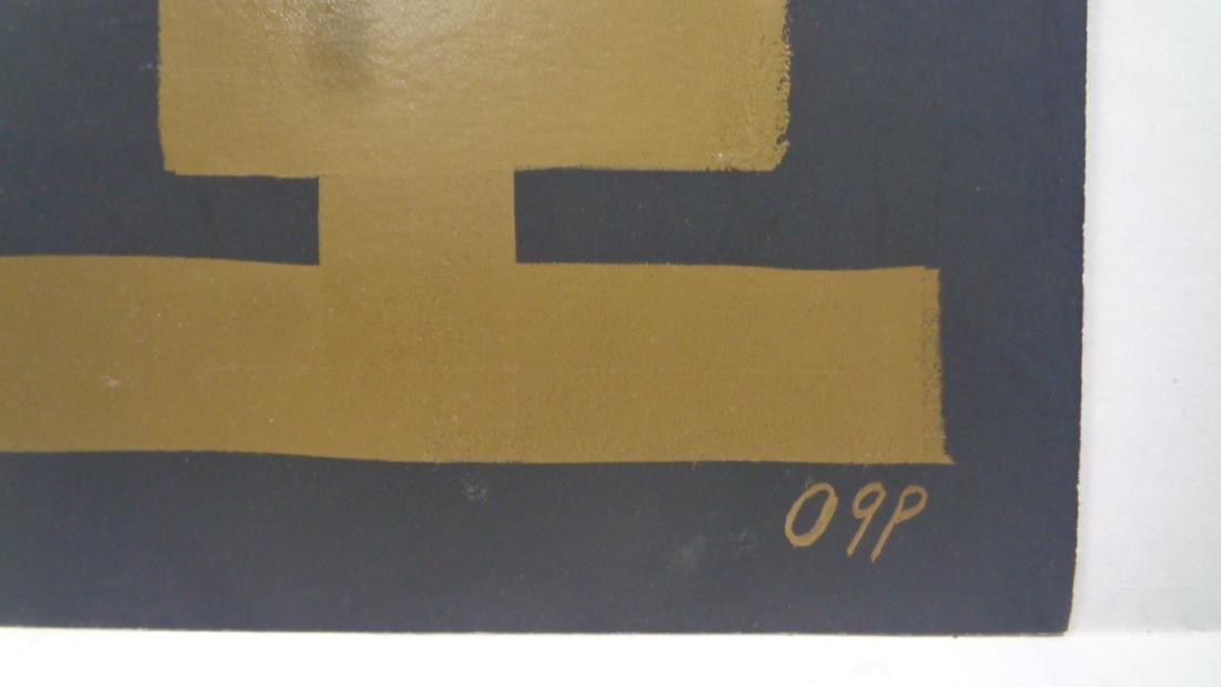 Abstract Modern Minimalism Black-Gold Ink. W.N.York. - 2
