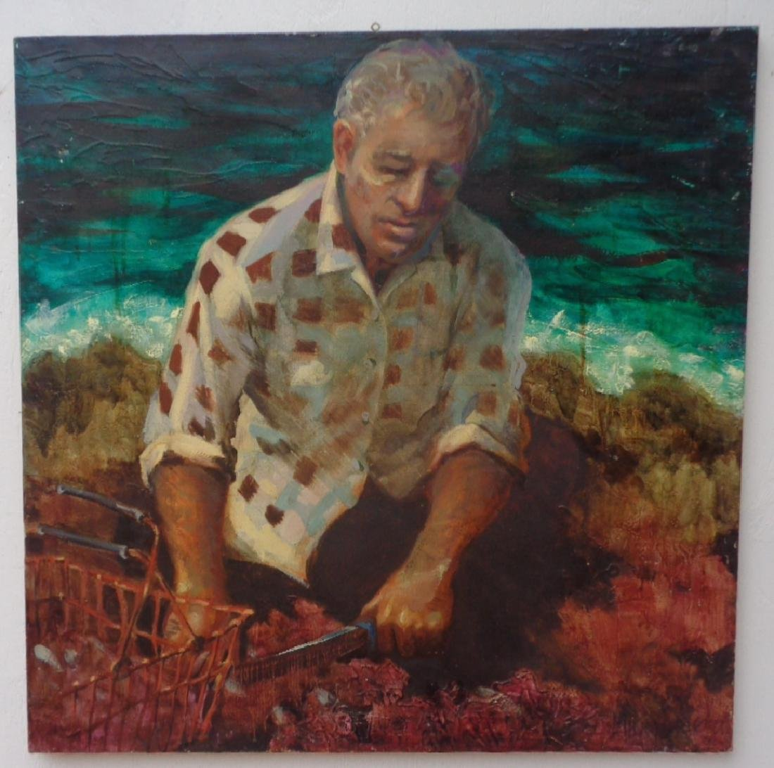 Fisherman Original Hand Painting Oil Painting on Canvas