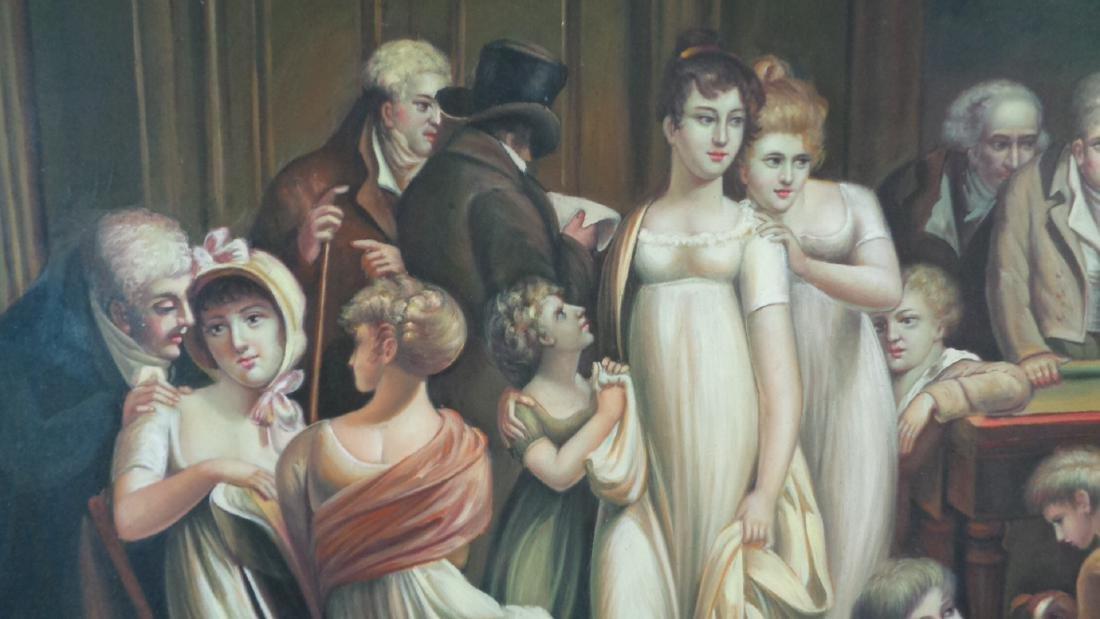 Large Oil Painting on Canvas Billiards Ladies - 4