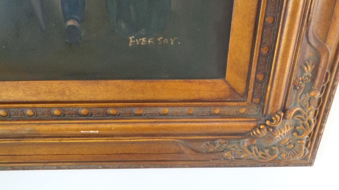 Large Oil Painting on Canvas Billiards Ladies - 6