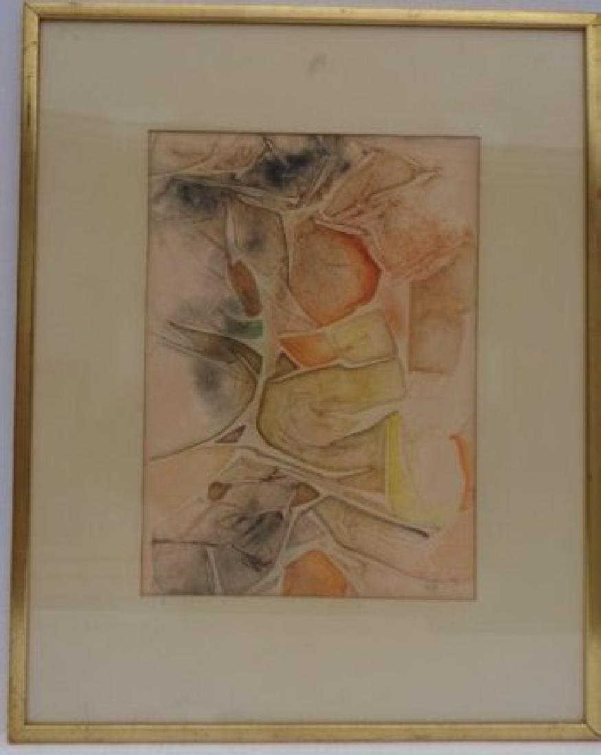 Original Abstract Gold Wood Frame - Signed and Stamped