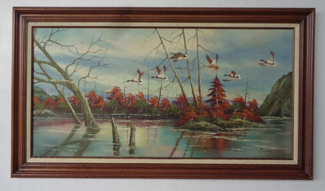 Florida Landscaping Painting on Canvas with Wood Frame.