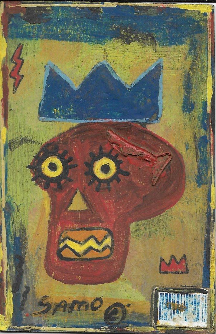 Jean-Michele Basquiat NYC Street Art Postcard Painting.