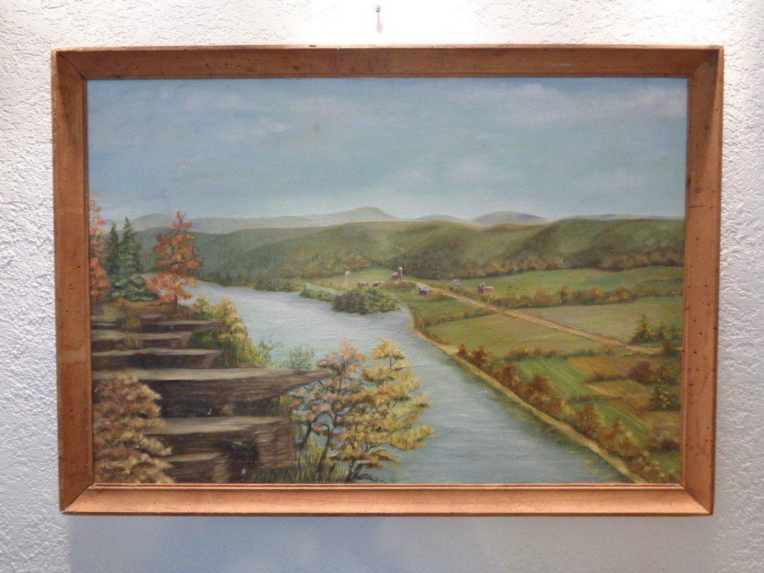M. P Sheffield Signed Landscape (Alabama) oil
