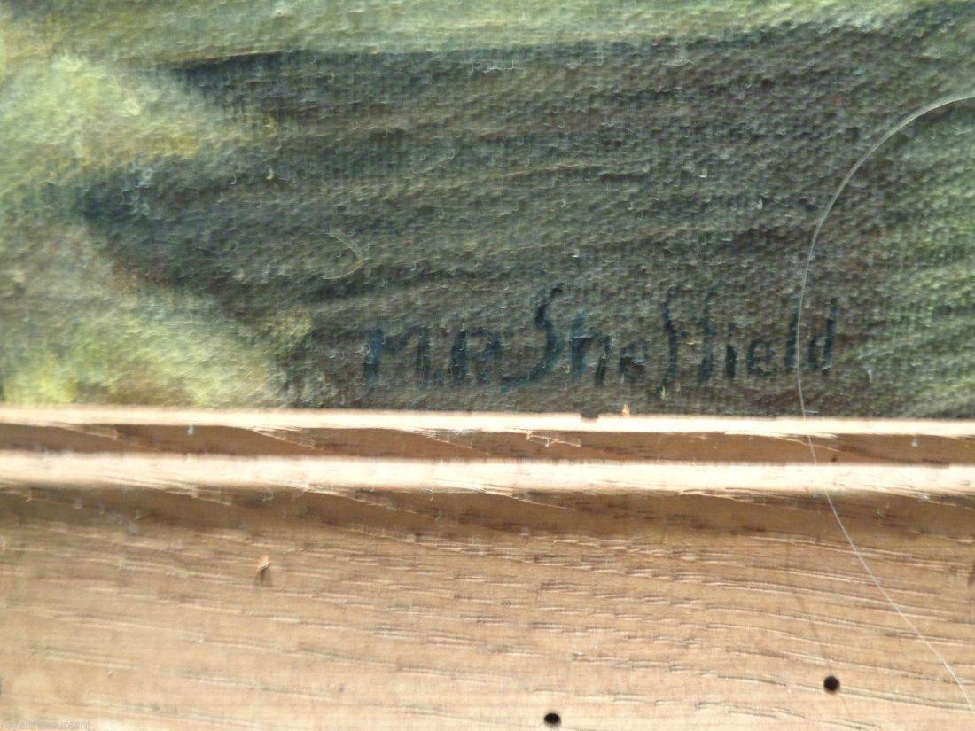 M. P Sheffield Signed Landscape (Alabama) oil - 2