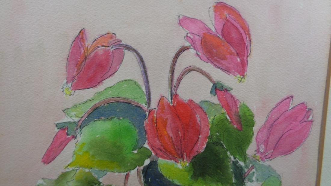 Original Midcentury Watercolor Painting - 2