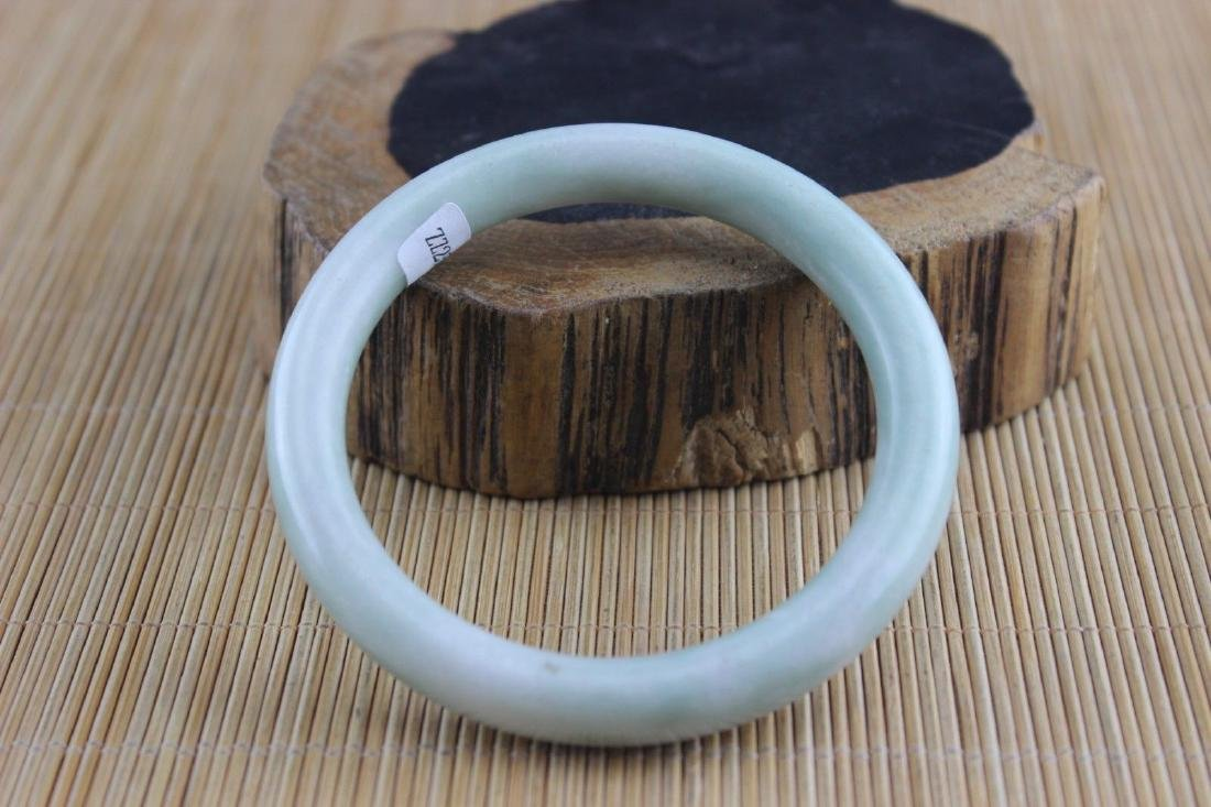 Certificated Natural Jade  Jadeite Hand-Carved Bracelet