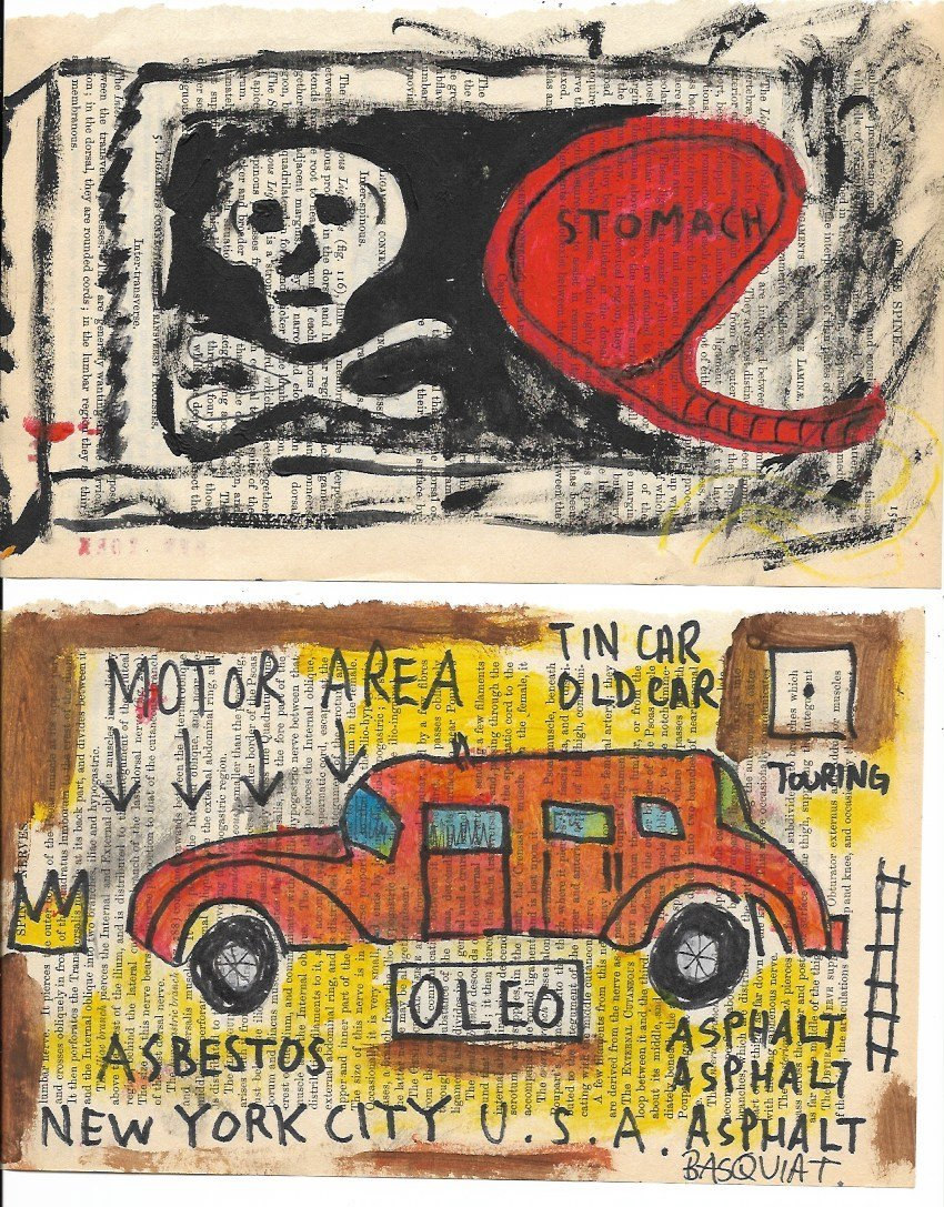 Lot of 2 Jean-Michel Basquiat N York Art Painting