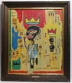 Jean Michel-Basquiat Signed (Amer,1960-1988)Untitlitled