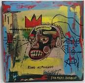 Jean Michel-Basquiat Signed (American,1960-1988)