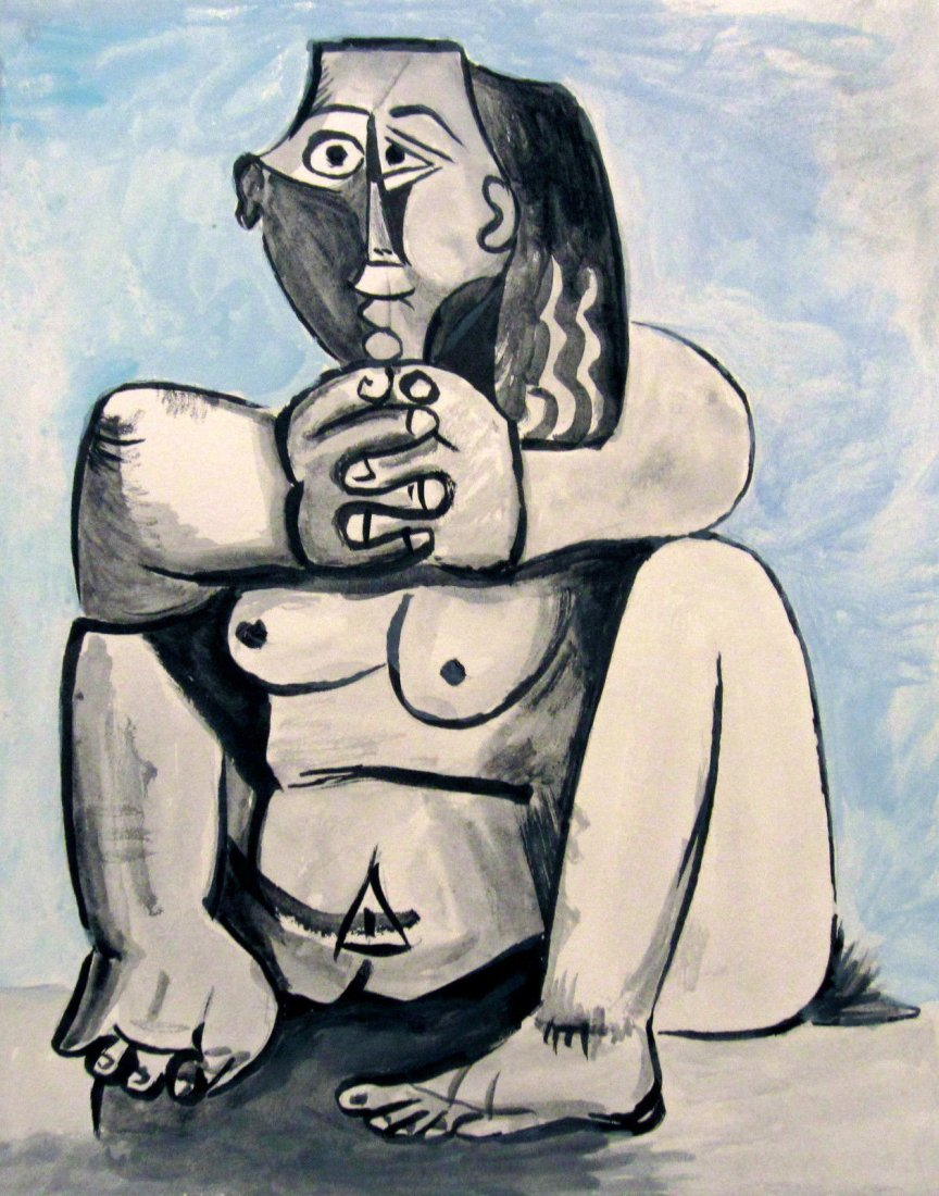 Picasso Avant_Garde Cubist Signed Painting,