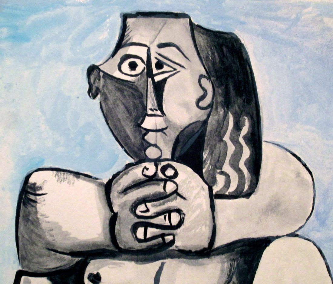 Picasso Avant_Garde Cubist Signed Painting, - 2