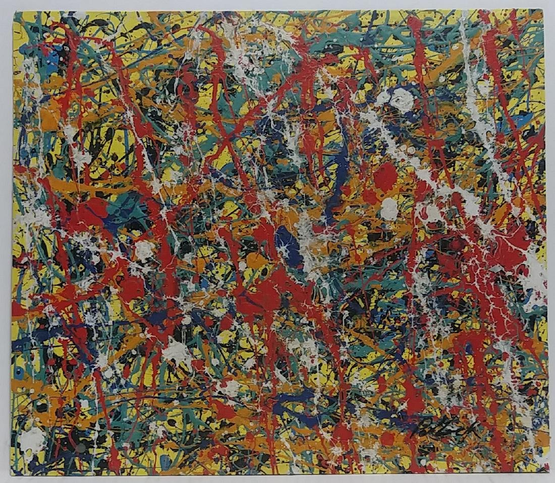 Pollock Signed Untitled (151) Abstract Painting
